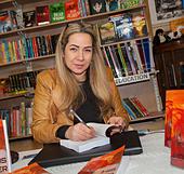 sally-anne on desk